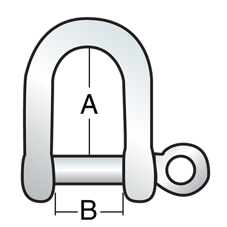 4 mm Stamped Shackle